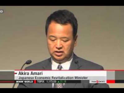 Akira Amari, the Minister for Economic Revitalization
